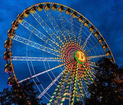Ferris Wheel, Fun, Oktoberfest, Folk Festival