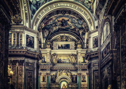 Church, St Isaac's Cathedral, Orthodox, Russia