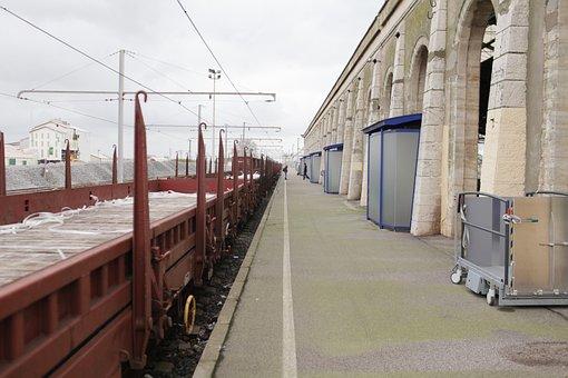 Station, Sncf, Sète, Wagon, Transport, Train, Line