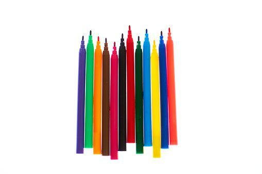 Pens, Color, The Draw, School, Paint, Art, Spikes, Pen