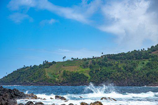 St Vincent And The Grenadines, Surf, Rough Sea