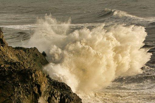Ocean, Waves, Surf, Wave, Water, Sea, Spray, Splash