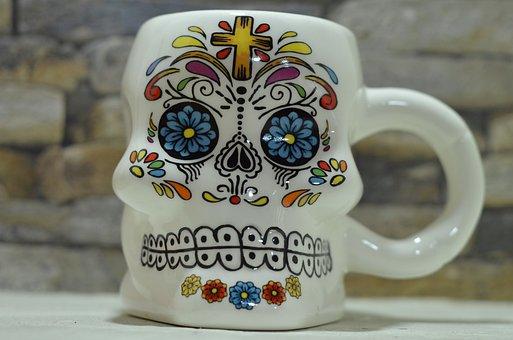 Mexico, Decoration, Art, Skull, Catrina, Design