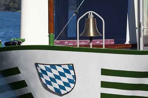 Ship, Coat Of Arms, Bavaria, Bell, Water, Chiemsee