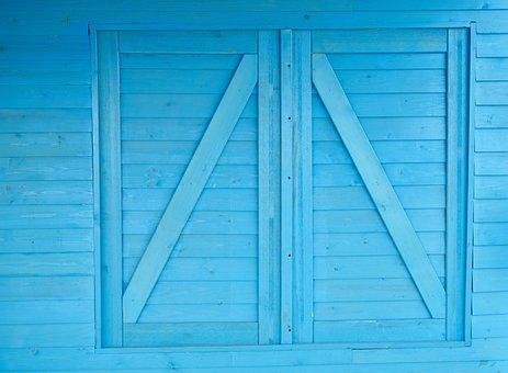 Blue, Door, Window, Wall, Architecture, Wood