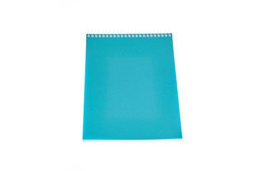 Notebook, Blue, Note, Paper, White, Color, Is Empty