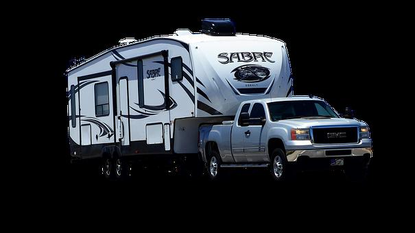 Car, Caravan, American, Holiday, Camping, Vehicle