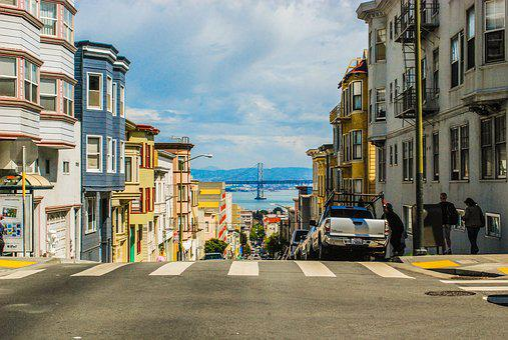 San Francisco, Street, City, Usa, Urban, Downtown, Road