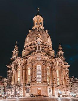Frauenkirche, Dresden, Architecture, Landmark, Building