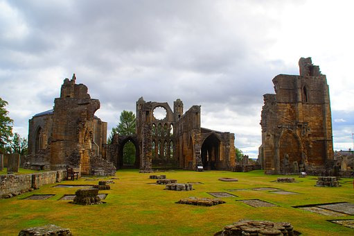 Ruin, Scotland, Gloomy, Ghostly, Elgin, Building