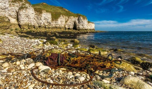 Beach, Litter, Junk, Flamborough, North Landing