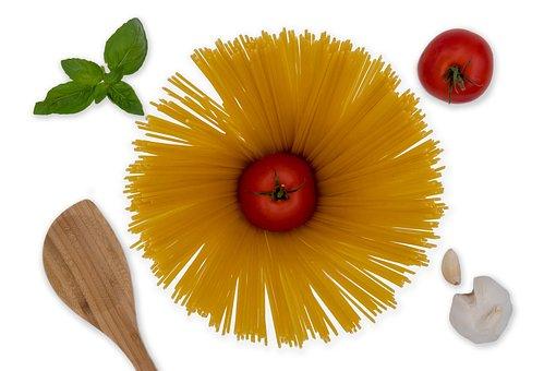 Pasta, Noodles, Spaghetti, Tomatoes, Garlic, Flour