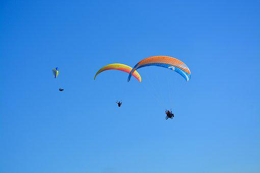 Paragliders Paragliders, Blue Sky, Fly, Free Flight