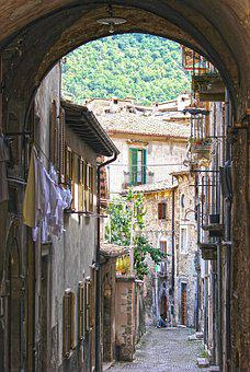 Arc, Alley, Houses, Ancient, Historical Centre
