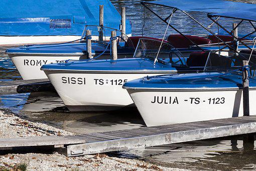 Boats, Electrically, Bavaria, Water, Chiemsee, Leisure