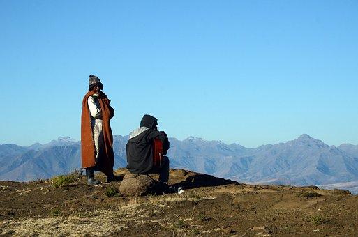 Lesotho, Malealea, Gates Of Paradise Pass, Mountains
