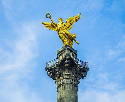 Mexico, Angel, Statue, Sculpture, Monument, Angelic