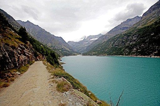 Mountain, Water, Green, Alps, Lake, Nature, Mountains