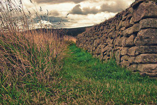 Wall, Old, Meadow, Stones, Architecture, Stone Wall