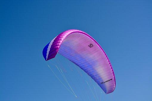 Paragliding, Paraglider, Ozone Wing, Flow Blue-mauve