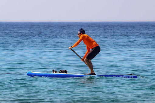 Paddleboarding, Sport, Paddle, Board, Stand, Sea