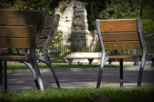 Park, Bank, Chairs, Wood, Scenic