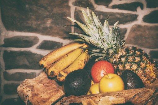 Fruit, Fruits, Pineapple, Banana, Papaya, Apple, Orange
