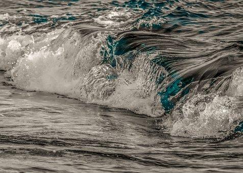 Wave, Surf, Water, Sea, Nature, Splash, Power, Seascape