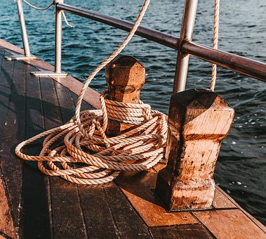 Sailing Vessel, Ropes, Thaw, Ship, Rope, Boat