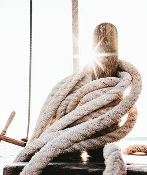 Sailing Vessel, Sonnenstern, Ropes, Thaw, Ship, Rope