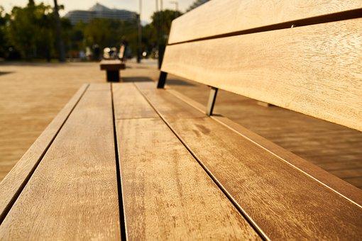 Bank, Sit, Park, Wood, Wood-fibre Boards, Light, Solar