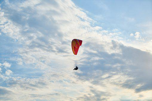 Parachute, Fly, Blue, Sports, Wind, Entertainment