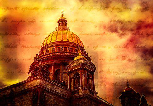 St Isaac's Cathedral, St Petersburg, Russia, Dome