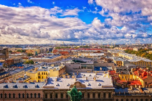 Russia, St Petersburg, Leningrad, Panorama, City