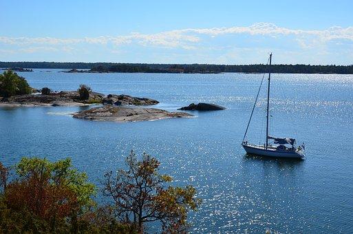 Sweden, Anchor, Archipelago, Sailing Boat, Hunting