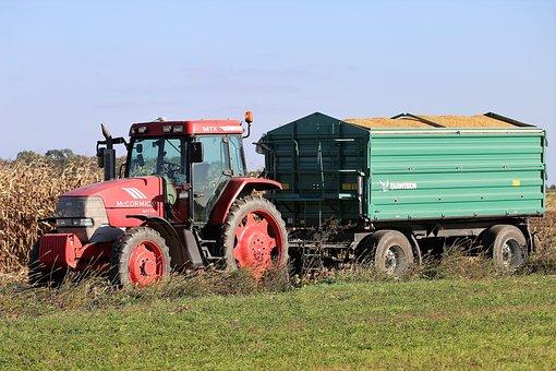 Tractor Mccormick Mtx 135, Transport, Corn, Work