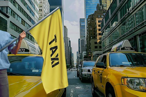 Taxi, New York, Nyc, Broadway, Transport, Traffic, City