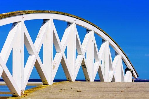Bridge, Web, Away, Railing, Transition, Wooden Bridge