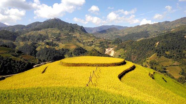 Travel, Tuorism, Scenery, Nature, Terraces, Mountain