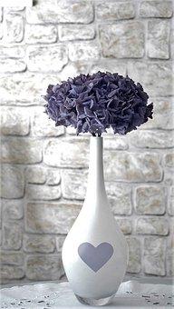 Flower, Vase, Hydrangea, Dried, Decoration