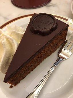 Cake, Eat, Cream, Sacher, Original, Austria, Vienna