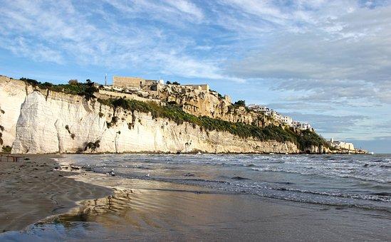 Vieste, Gargano, Puglia, Sea, Beach, Old Town, Cliff