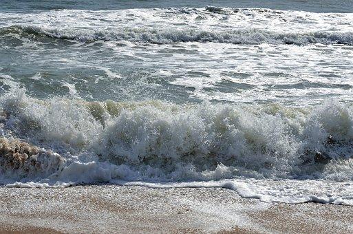 Ocean, Waves, Foam, Sea, Water, Beach, Background, Surf