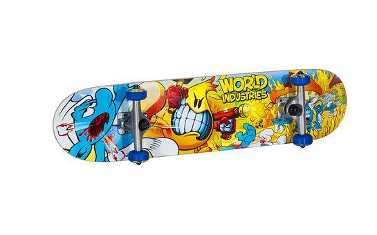 Skateboard, Wheel, Colors, Speed, Sports, Entertainment