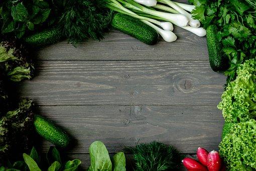Food, Background, Vegetables, Vegan, Cucumber, Salads