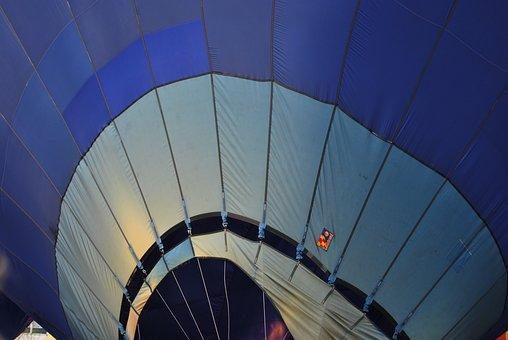 Hot Air Balloon, Blue, Ballooning