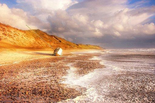 Boat, Beach, Sea, Water, Nature, Ship, Coast, Landscape