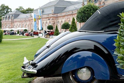 Castle Park, Nostalgia, Oldtimer, Classic Car Meeting