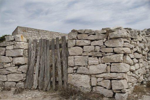 Wall, Stones, Blocks, Portal, Closing