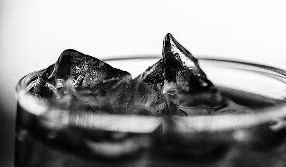 Ice, Macro, Black And White, Cold, Water, Transparent